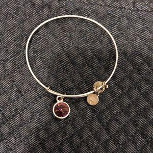 Alex & Ani purple charm bracelet